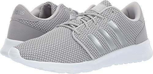 adidas Women's Cloudfoam QT Racer, Light Granite/Silver Metallic/Grey, 7 M US