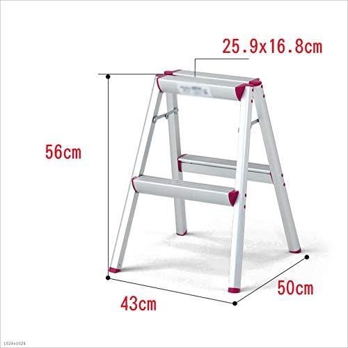 Love lamp Escaleras Plegables Escalera portátil Ligera, Escalera de Mano Escalera Plegable de Aluminio, Escalera Duradera Blanco Rojo Escaleras Telescópicas (tamaño : M): Amazon.es: Hogar