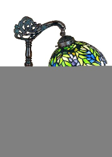 Meyda Tiffany 27167 Tiffany Honey Locust Bridge Arm Desk Lamp, 19