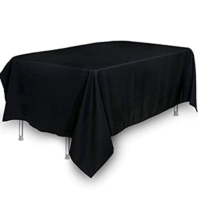 Utopia Kitchen 60x126-Inch Polyester Rectangular Tablecloth (Black)