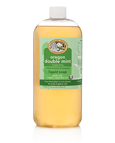 Oregon Soap Company - Liquid Castile Soap, Certified Organic and Natural Ingredients, Concentrated Multipurpose Mint Castile Soap (32 oz, Oregon Double Mint)