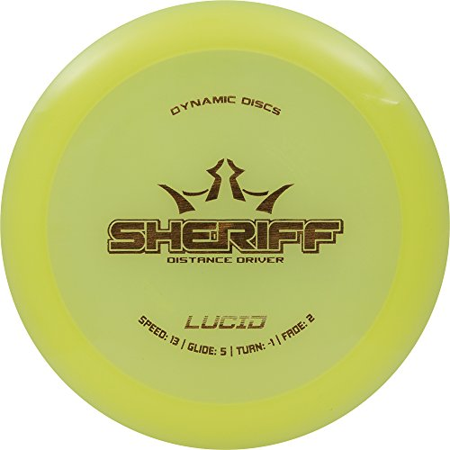 Dynamic Discs Lucid Sheriff Distance Driver Golf Disc [Colors may vary] - 170-172g
