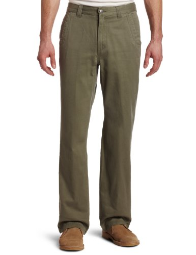 Mountain Khakis Men's Teton Twill Pant Relaxed Fit, Olive, 35x32