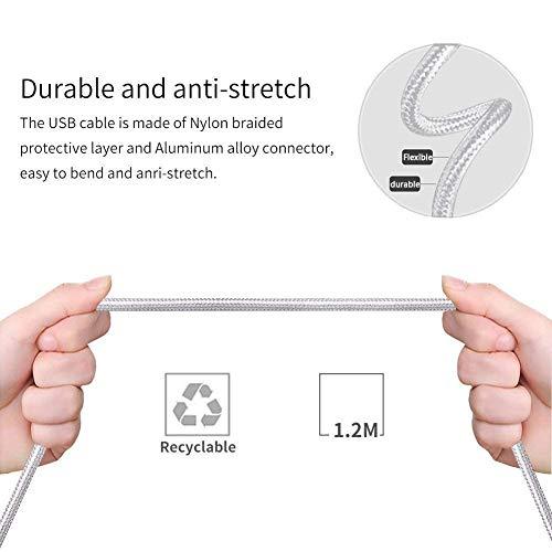 3 en 1 Multi Cable de Carga Micro USB Tipo C Multi Cable Cargador Multiple Cable de Nylon Trenzado para Phone X XS XR 8 7 6, Android Galaxy S9 S8 S7, ...