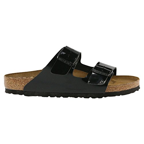 Birkenstock Womens Arizona Black Patent Birko-Flor Sandals 37 EU