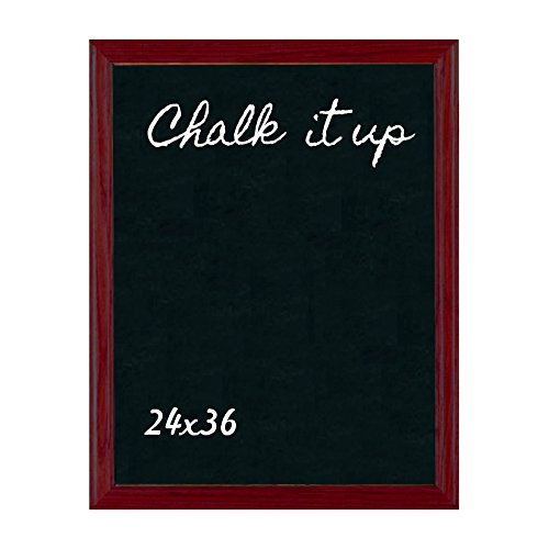 ComeAlong Industries Solid Oak Frame Chalkboard, Country Red, 24'' Width x 36'' Height