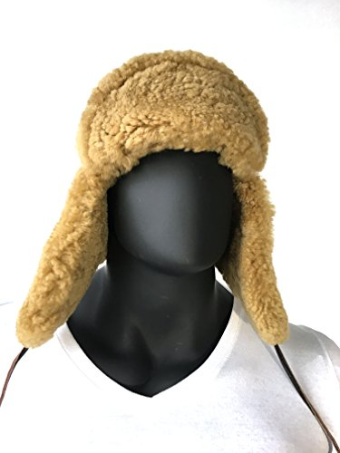 (Russian Style Sheepskin Shearling Warm Winter Hat Aviator Many Colors (X-Large,Lavado))