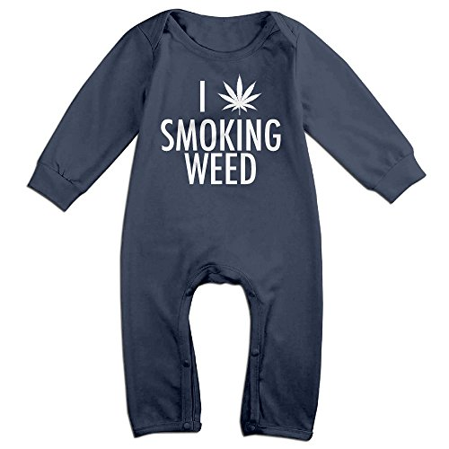 HOHOE Newborn I Smoking Weed Pol Leaf Long Sleeve Bodysuit Outfits 24 (Katy Perry Outfits For Kids)