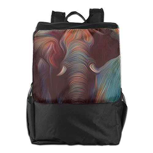 Strap and Men Elephant Colorful Storage Dayback Adjustable HSVCUY Personalized Outdoors Backpack For Shoulder School Camping Women Travel a1vAaZq