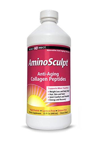 AminoSculpt Liquid Collagen Supplement (Tart Cherry Flavor) from Health Direct 15 fl.oz (444ml)