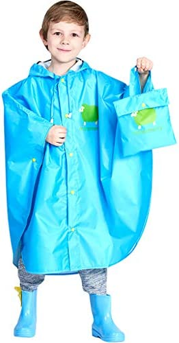 KIDS CHILDREN PONCHO RAIN COVER PROTECT CLOTHING WINTER TRAVEL TRIP