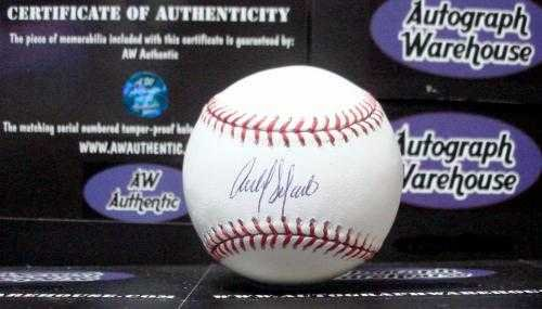 Carlos Delgado autographed baseball (OMLB Blue Jays Mets Puerto Rico) MLB Authentication Hologram AW Certificate ()