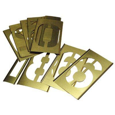 Brass Stencil Gothic Style Number Sets - 12'' 13pc number set by C.H. Hanson