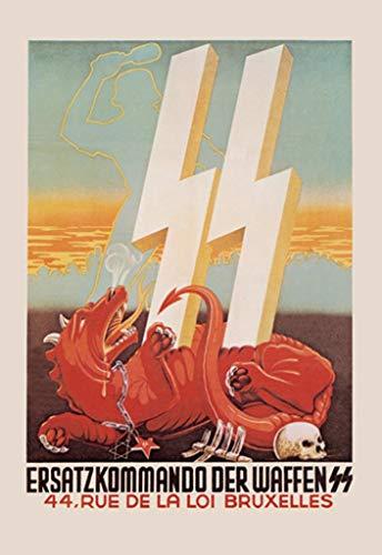 ArtParisienne Ersatzkommando Der Waffen SS Bruxelles 20x30-inch Canvas Print