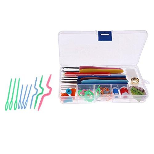 Lovoski かぎ針編み 56個セット 縫製ツール 編み針 ピン フック針 ニットキット 便利の商品画像
