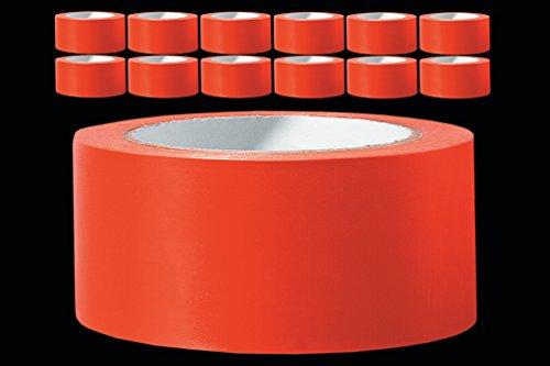 12 x PVC Schutzband PROFI glatt orange 50 mm x 33 m Klebeband Putzerband Putzband für glatte und leicht raue Untergründe