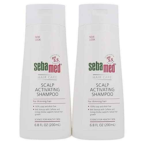 Sebamed Anti Hair Loss Scalp Activating Shampoo for Thinning Hair Supports Natural Hair Growth Helps Fight Hair Loss Dermatologist Recommended (200 Milliliters) Pack of 2