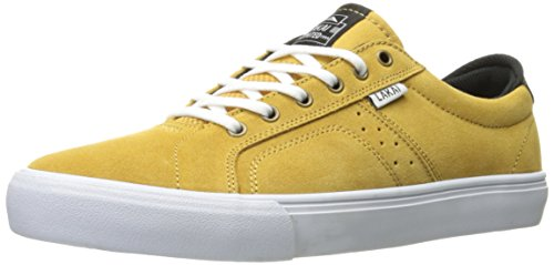 Lakai Men's Flaco Skateboarding Shoe, Gold Suede, 11 M (Yellow Gold Footwear)