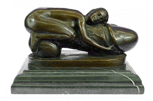 HandmadeEuropean Bronze Sculpture Nude Flying Penis