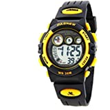 Multifunction water-proof sport digital watch with alarm stopwatch for boys and girls /yellow
