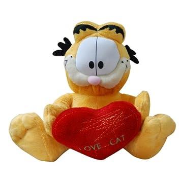 9 Pulgadas de Garfield suave peluche con corazón de gato amor amor (WH8)