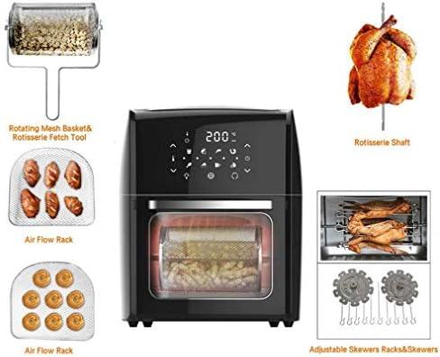 weiwei Four Grille-Pain à friteuse à air numérique déshydrateur avec 8 préréglages Accessoires Inclus pour Frire rôtir Griller Cuire au Four sans Huile 10 L Noir