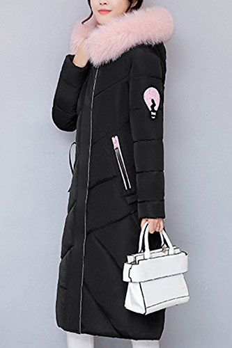 Black Winter Women Warm Parkas Puffer Coats Lined Outerwear Hooded Casual Down avaq7