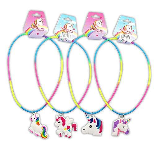 venta caliente online b9c15 2805e DISOK - Lote 24 Collares Unicornio para Las niñas. Regalos ...
