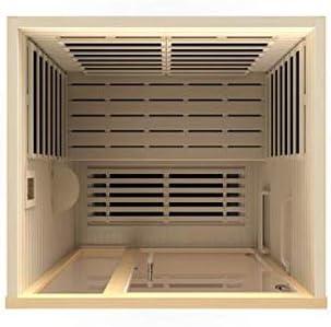 DYNAMIC SAUNAS Dynamic Amodora 2-person Low EMF Far Infrared Sauna NATRUAL
