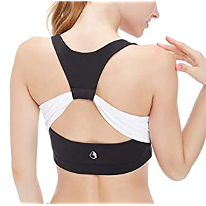 icyzone Women's Activewear Fitness Moving Comfortbal Racerback Sports Bras