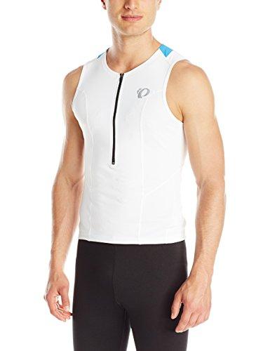 Pearl Izumi - Run Men's Select Tri Relaxed Short Sleeve Jersey, Medium, White/Brilliant Blue (Select Jersey Sleeveless)