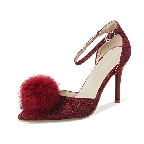 Inconnu 1To9 Escarpins Pour Femme Rouge Red, 38.5 EU, MMS02851