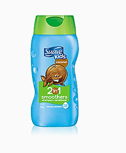 (Suave Kids 2-in-1 Shampoo Smoothers, Cowabunga Coconut 12 oz (Pack of 8))