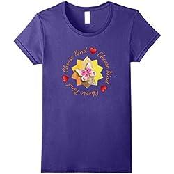 Womens Choose Kind Butterfly Anti-Hate Pretty T Shirt Medium Purple