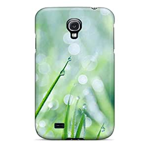 New Cute Funny Nature Grass Water Drops Case Cover/ Galaxy S4 Case Cover