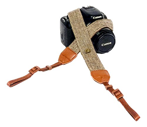beFree Classic Vintage Camera Shoulder and Neck Strap for All DSLR/SLR Cameras – Nikon, Canon, Sony, Pentax, Olympus, Fuji – Brown