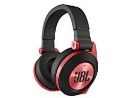 JBL E50BT Red Premium Wireless Over-Ear Bluetooth Stereo Headphone, Red