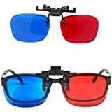 ✅ Red-Blue/3D Glasses Clip with Box Case Glasses for 3D TV 3D Movie Game Clip Glasses