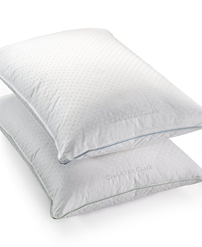 - Charter Club Vail Collection 50% European Feather & 50% European Down Fill Soft Density Standard Pillow Bedding