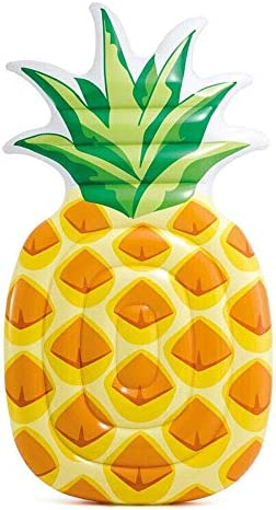 Perfect Pools Inflatable Giant Pineapple Oversized Vibrant Swimming Pool Lounger | Swimming Pool Float