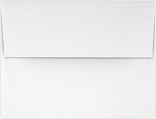 A2 Invitation Envelopes (4 3/8 x 5 3/4) - 70lb. Classic Linen Bright White - 100% Recycled (50 Qty.) | Perfect for Invitations, Announcements, Sending Cards, RSVP Cards | 4870-70RBWLI-50