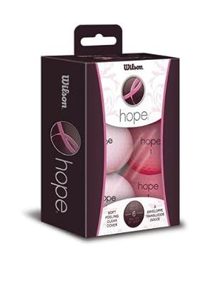 Wilson Hope Golf Balls Women's 6 Pack Pink/Hot Pink