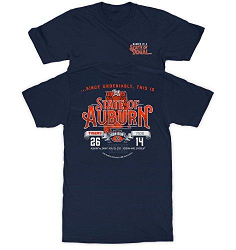 Auburn Iron Bowl Victory vs Alabama 2017 Navy Short Sleeve T-Shirt (Navy, XL)