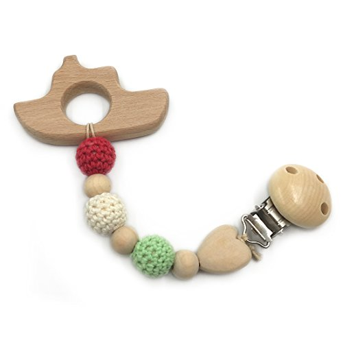 Amazon.com : Amyster Baby Wood Pacifier Clip Pendant Nature ...