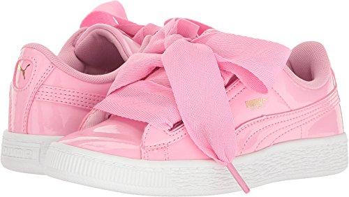 - PUMA Girls' Basket Heart Patent Sneaker, Prism Pink, 12 M US Little Kid
