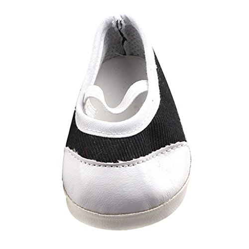 MonkeyJack Flats Shoes Sneakers Accessories for 17'' Zapf Baby Born Dolls Black & White