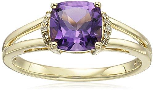 Amethyst And Diamond Ring - 7