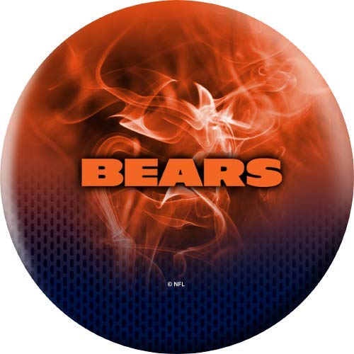 NFL-Chicago-Bears-On-Fire-Undrilled-Bowling-Ball