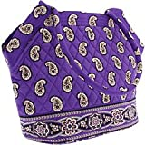 Vera Bradley Angle Tote Bag in Simply Violet Pattern, Bags Central