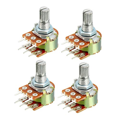 (uxcell WH148 1K Ohm Variable Resistors Dual Turn Rotary Carbon Film Taper Potentiometer 4pcs)